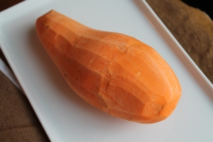 Peeled sweet potato