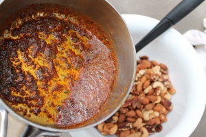 Spice mixture over nuts
