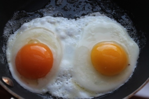 Eggs in the pan