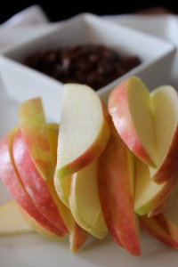 Apples and pecan butter